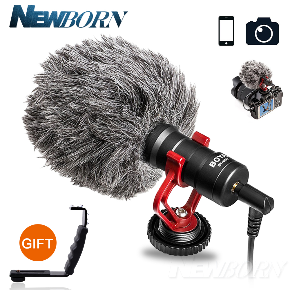 BOYA BY-MM1 camera photography Microphone Youtube Mic Recording for iphone 7 6 s HuaWei xiaomi Smartphone for Canon Nikon DSLR boya by m1 lavalier lapel omnidirectional condenser recording microphone for iphone nikon canon youtube vlogging live broadcast