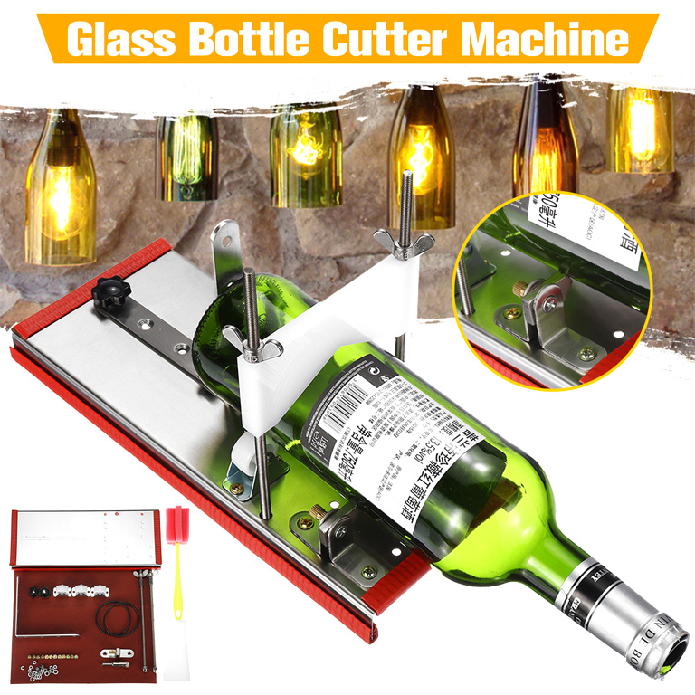 Alert Professional Stainless Steel Glass Bottle Cutter, New Design Beer Wine Glass Bottle Cutting Tools