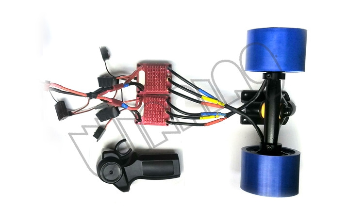 buy electric skateboard dual hub motor