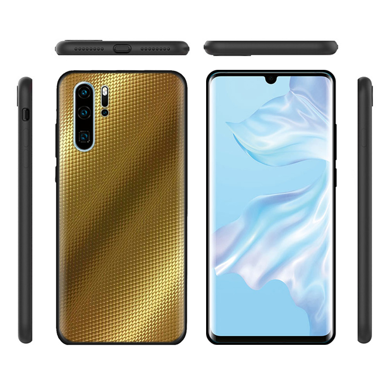 Black Silicone Cover Case for Huawei P30 P20 P10 Mate 20 10 Lite Pro Nova 4 4E 3E P Smart 2019 Plus Soft Shell Gold Chocolate in Half wrapped Cases from Cellphones Telecommunications
