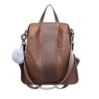 Brand Women Backpack Cowhide Leather PU School Backpacks For Teenage Girls Large Capacity Fashion Travel Morrales