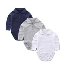Bodysuits Shirt Kids Jumpsuit Infant Clothing Long-Sleeve Newborns Baby-Boy Cotton