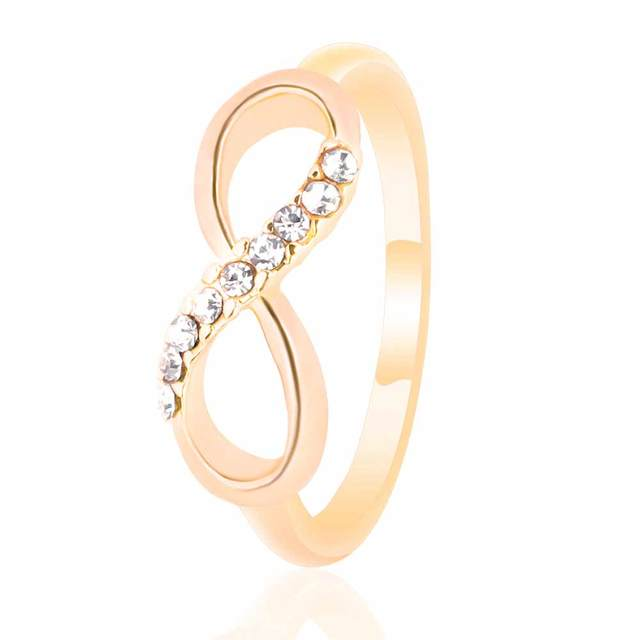 FAMSHIN Fashion pour 8 word alloy with ring all-match simple ring jewelry luxury