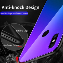 Anti-Knock Colorful Tempered Glass Phone Case for Xiaomi