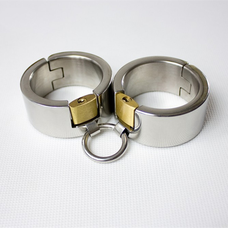 Metal Bondage Restraints Handcuffs for Sex Toy Fetish Stainless Steel Handcuffs Metal Adult Sex Game for Couples G7-6-43 toughage sex indoor swing adjustable restraints fetish sex position bondage nylon sponge metal sex furniture for couples