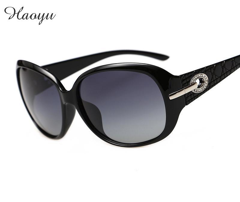 Haoyu desainer kualitas terbaik kacamata polaroid wanita kacamata channel  populer fashion kacamata UV 400 oculos de d5caba5ce4