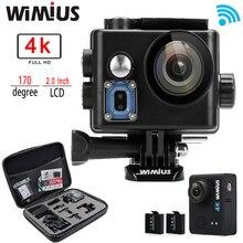 Wimius Q6 4K WIFI Action Camera Mini Sports Helmet Cam Full HD 1080P 60FPS 2.0″ Go Waterproof 60M Pro + Protective Bag Case
