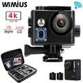 "Wimius q6/q6 + 4 k wifi action camera mini capacete esporte cam full hd 1080 p 60fps 2.0 ""ir À Prova D' Água 60 M Pro + Caso Bolsa Protetora"