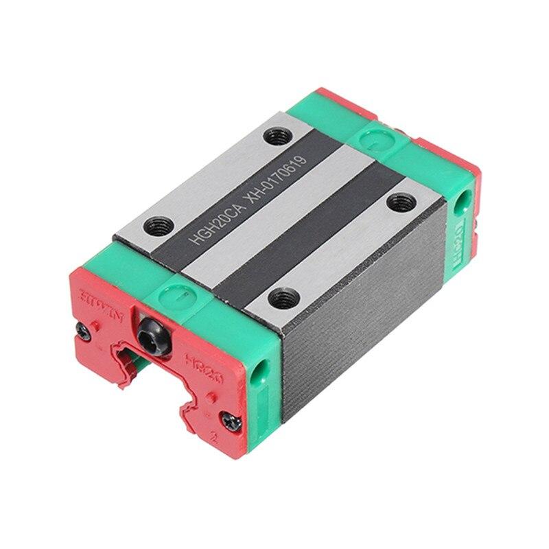 HGH20 20mm Linear Rail Guide Block CNC Parts New linear guides slider hgh20 20mm linear rail guide block cnc parts steel