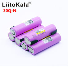 Litokala Original 18650 3000mah batterie INR18650 30Q-N 20A décharge Li-ion batterie Rechargeable(China)