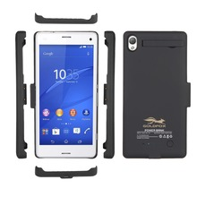 High Quality Black/White 3200mAh External Backup Battery Charger Cover Power Case Pack For Sony Xperia Z3