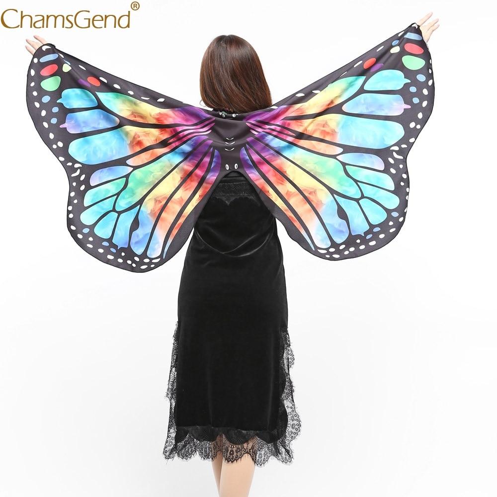Butterfly Wings Cape Shawl Adult Fairy Pixie Cloak Costume Fancy Dress Party