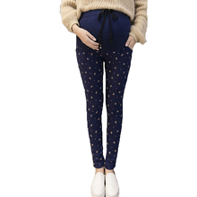 plus size pregnant leggings casual trousers velvet Thickening legging maternity clothes Warm Pants maternity pants winter spring