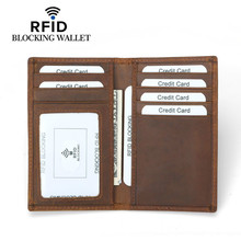 Women leather Wallet Prevent  credit card holder purses Anti-magnetic anti-theft brush RFID