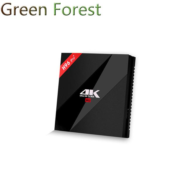 H96 Pro Plus Android TV Box Amlogic S912 Octa Núcleo 3G/32G malvavisco 2.4G/5.8 GHz Wifi HDMI 4 K HDR BT4.1 PK X96 Medios jugador