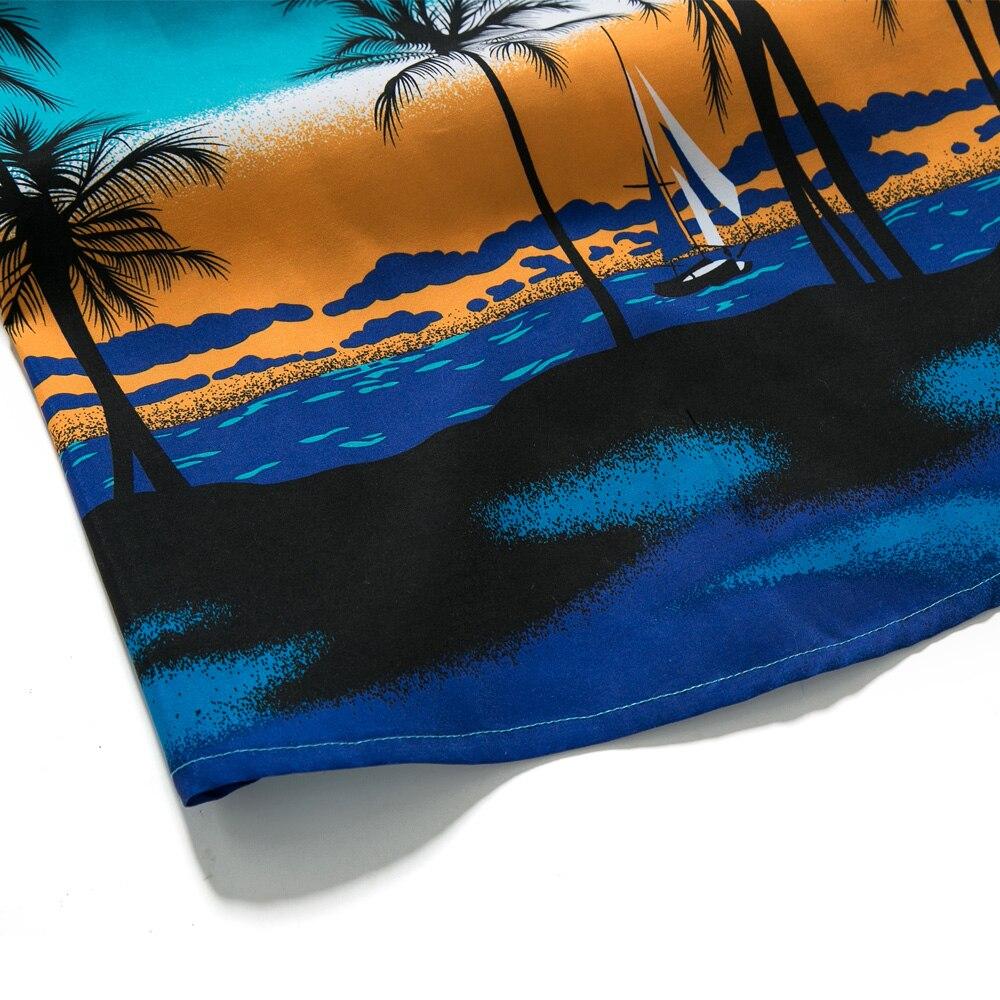 Herren Hawaiian Stil Shirts Kurzarm Tropical Print Sport Hemd Slim ...