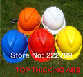 Top thicking ABS V-type colored cap working construction engineer work protective safety hard hat safety helmet free shipping