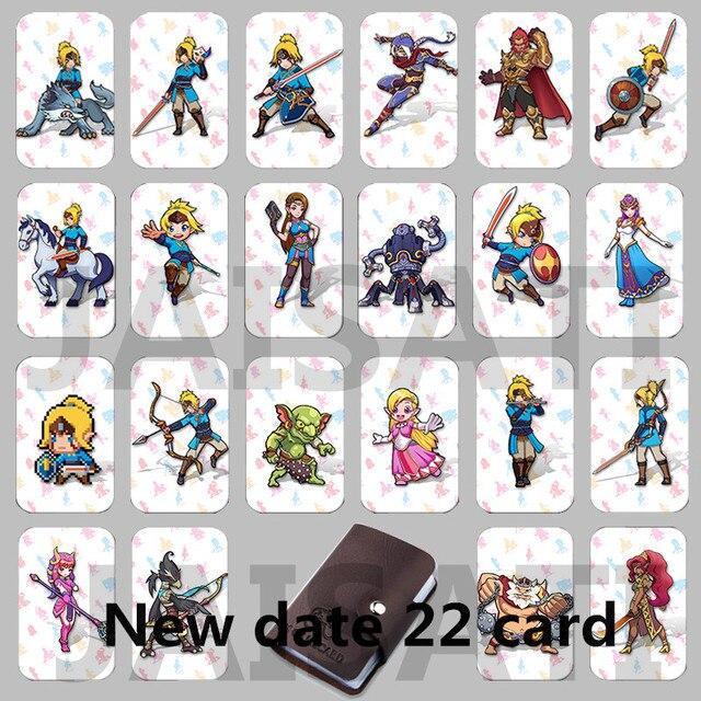 22 PCS NTAG215 Dados de Tag NFC Cartões de Jogo Novo 4 Herói 20 coração Link Para Zelda Breath of the wild Wolf NS Interruptor