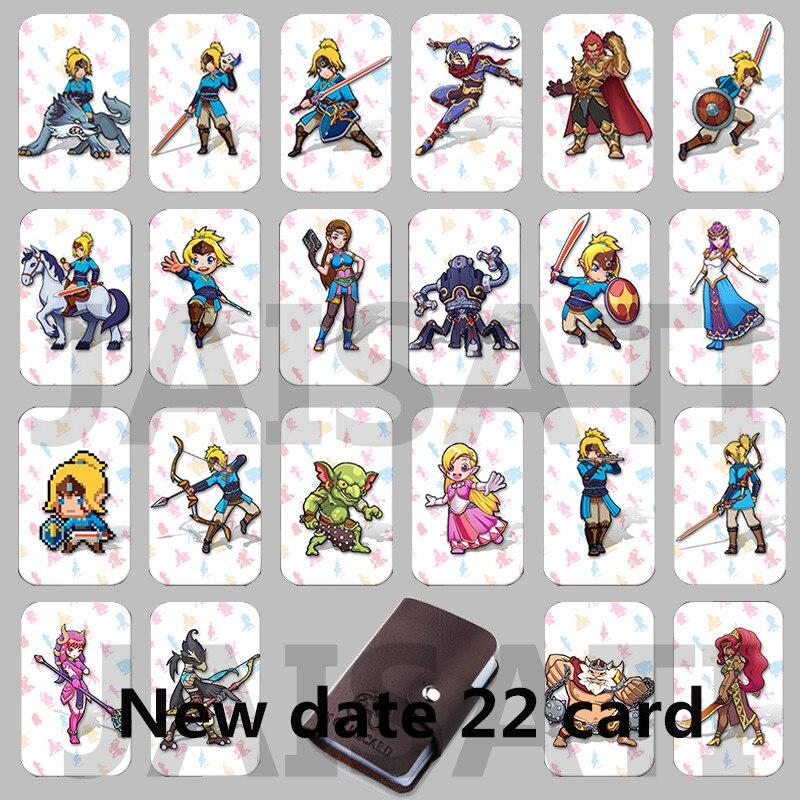 22 piezas NTAG215 juego de tarjetas NFC nuevo 4 héroe etiqueta de datos 20 corazón Lobo enlace para Zelda aliento de la salvaje NS interruptor