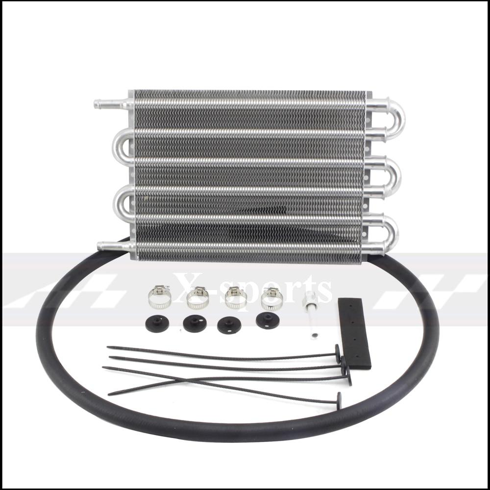 Автомобильная система охлаждения радиатора AT/MT трансмиссия масляный радиатор комплект Универсальный алюминиевый корпус Размер 6 ряд 250*190*20...