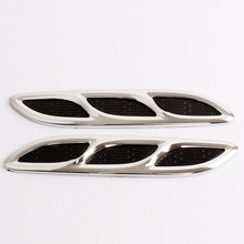 MAYITR 2PCS New Universal Car Fender Hood Side Air Flow Vent Cover for Truck SUV Decoration Sticker