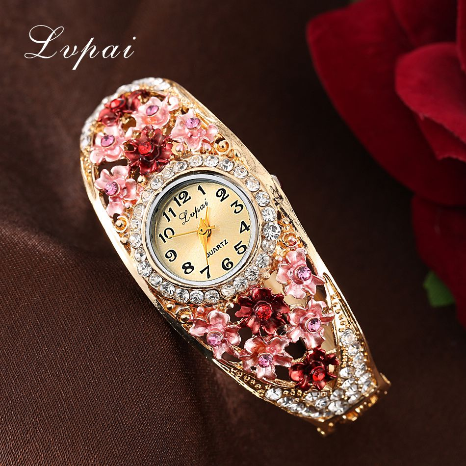 Lvpai Cheap Sale Fashion Women Flower Bracelet Watches Wristwatch Ladies Luxury Brand Quartz Watch Female Gift Clock watch original projector bulb projector lamp dt01181 fit for hcp a82 hcp a83 hcp a85w