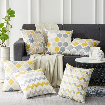 Geometric Nordic Pillowcase Bedroom Departments Living Room Pillowcases Rooms
