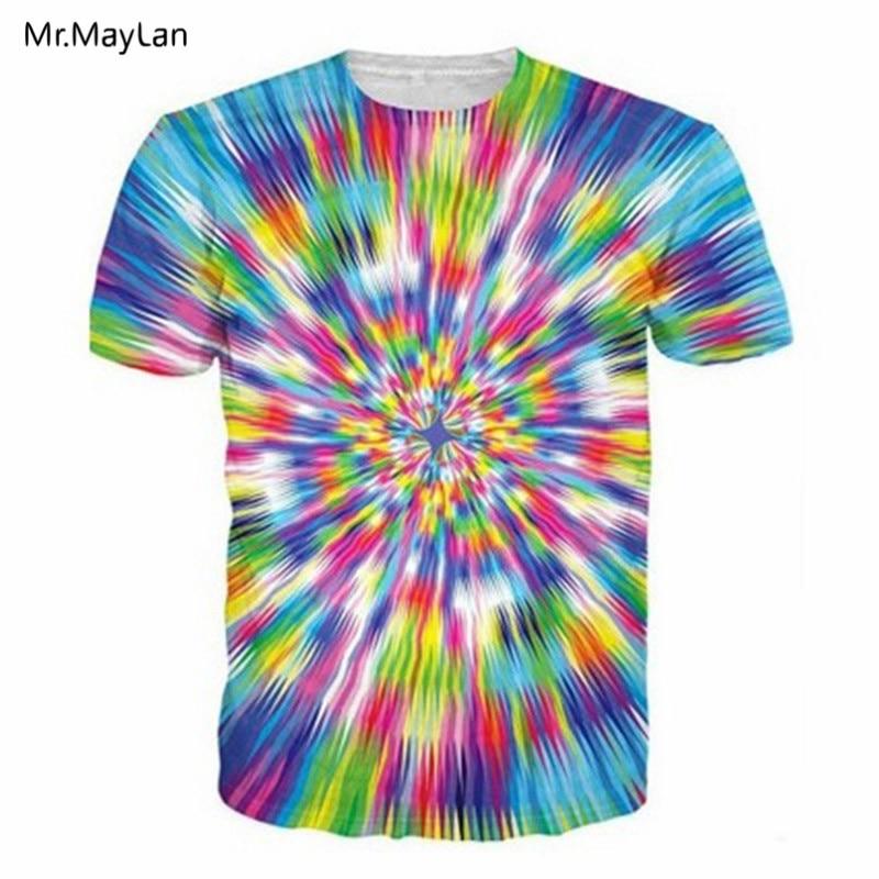 Cool 3D Print Colorful Psychedelic Vertigo Hypnotic T-shirt Tees Hiphop Men/women Summer T Shirt 2018 Fashion Clothing Harajuku