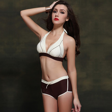 New foclassy direct sales new foreign trade flat angle European and American sexy swimsuit female 2601 sports large size bikini