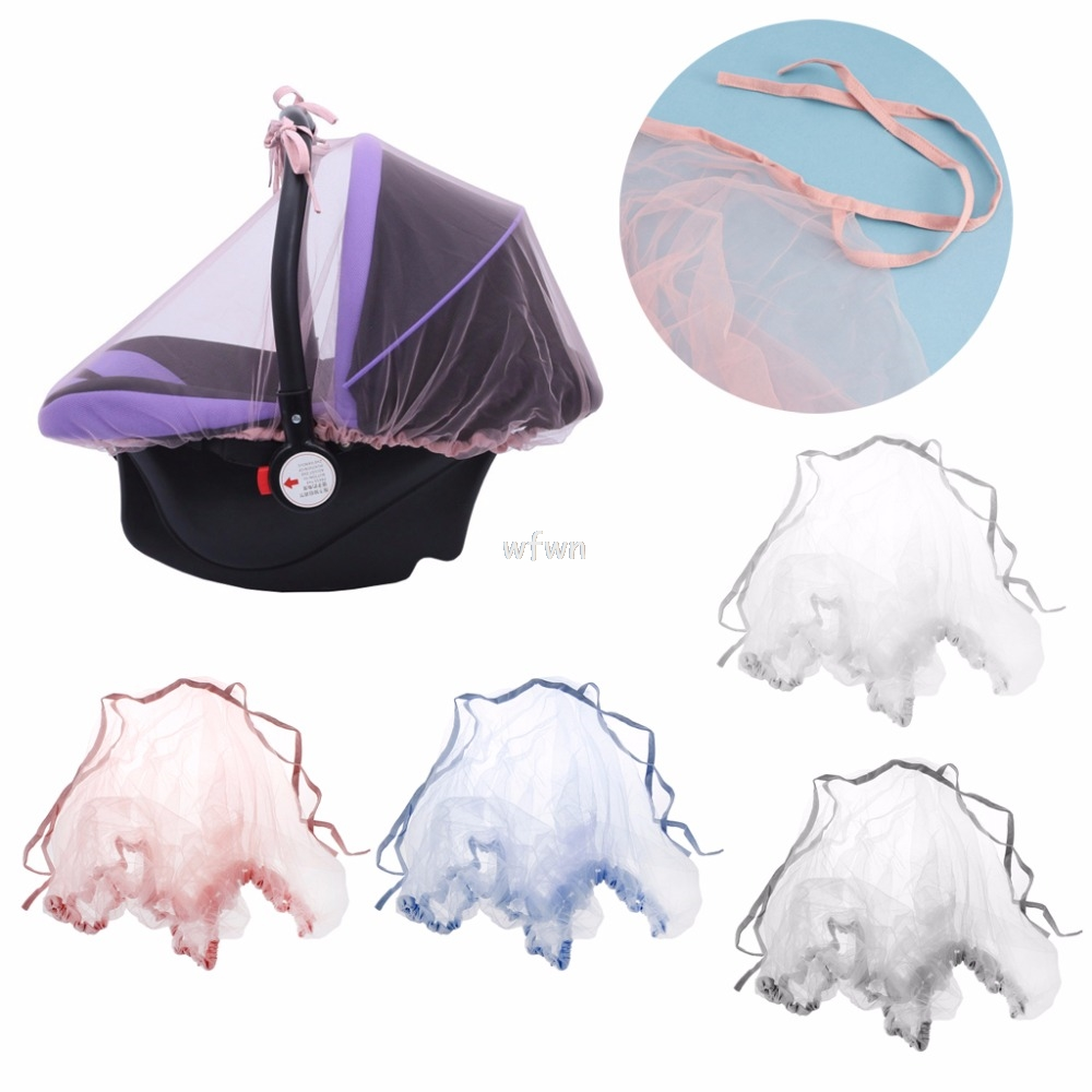 Baby Carriers Car Seats Cover Infant Mosquito Net Bug Insect Protector Netting Baby Pram Cover MAY24 dropship