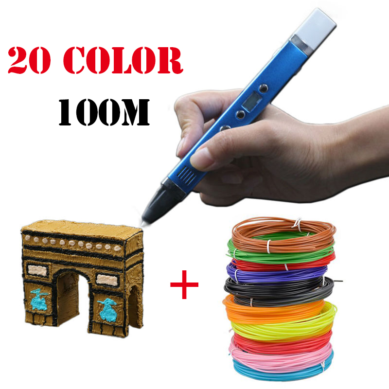 Myriwell 3rd Multifunction 3D Pen 5V2A USB Charging Power Bank Magic 3D Printer DIY Drawing Pen Best For Kids Gift 3D Printing dewang factory 3d printer pen 3d printing pen kids drawing pen abs filament 100 200 meters 3d pen send from russia