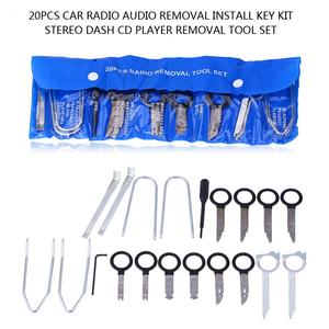 1 Set 20pcs Car Radio Audio Removal Install Key Kit Stereo Dash CD Player Removal Tool Set Automobile Accessories
