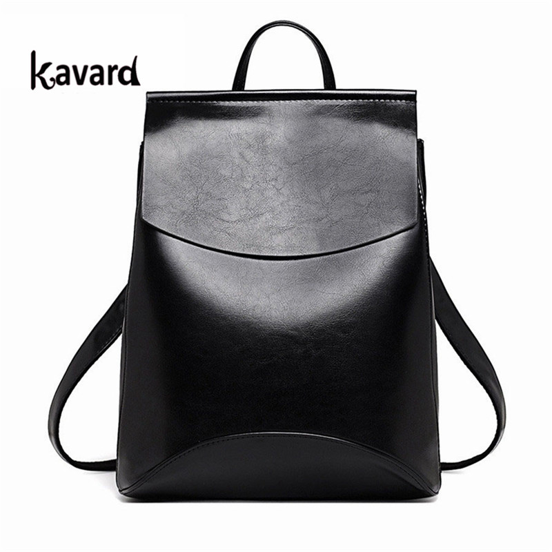 Back To School Brand SchoolBags For Girls 2017 Black Leather Backpack For Teenage Girl Bagpack Mochila Escolar Sac A Dos Femme
