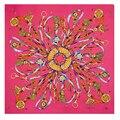 Moda colorida bufanda cuadrada de seda 100% primavera / otoño / invierno bufanda de las para mujer bufandas mujer regalo 100 * 100 CM