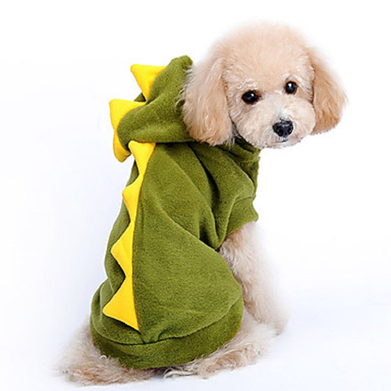 Dinosaur Costume Pet Dog Clothes Halloween Winter Chihuahua Jumpsuit Jacket Coat