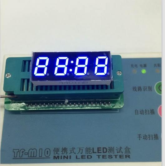 Общий анод/общий катод 0.4 дюймов цифровые часы трубки 4 биты цифровой пробки светодиодным дисплеем 0.4 дюйма синий цифровой трубки