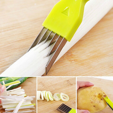 Multifunctional Knives Vegetable Cutter Magic Slicer Peeler Shredded Green Onion Knife Green Spring Onion Cutter ss1313