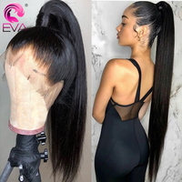 Eva Hair Pre Plucked Full Lace Human Hair Wigs With Baby Hair Straight Glueless Full Lace Wig Bleached Knots Brazilian Remy Hair