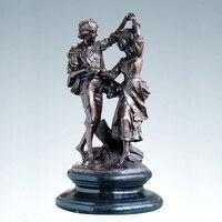 الكلاسيكية أوروبا النحت النحاس النحاس تمثال برونز تمثال صبي وفتاة عاشق الأحبة هدايا