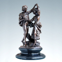 Classical Europe Bronze Statue boy and girl lover sculpture brass copper figurine Valentines Gifts