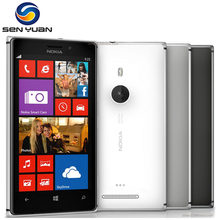"Original 925 phone Nokia lumia 925 Windows Phone 4.5"" 1GB 16GB Camera 8.7MP Wifi GPS 4G Mobile Phone(China)"