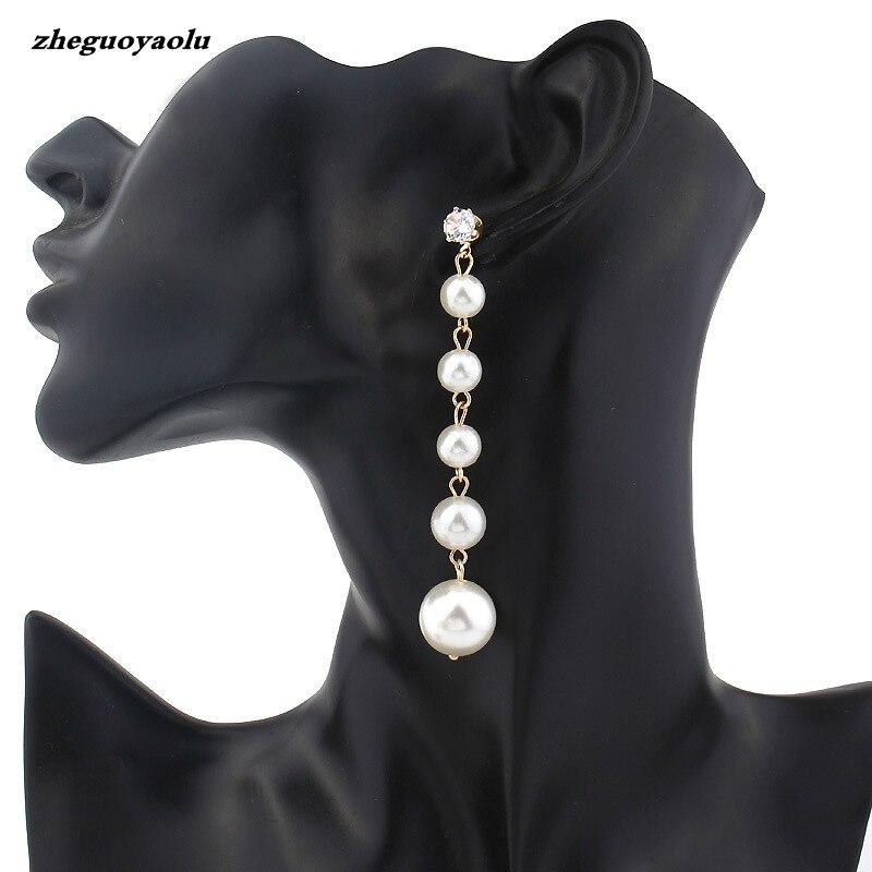 Worldwide delivery pearl long earrings in NaBaRa Online