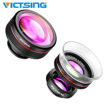 VicTsing Universal 3-in-1 Phone Camera Lens Kit Clip-On Supreme Fisheye Lens+12X&24X Super Macro Lens for iPhone Huawei Dropship [factory direct] fisheye lens 1 2 3 16 megapixel 1 2mm 220 degree super gopro lens xiaomi yi lens cctv lens 4k lens page 1