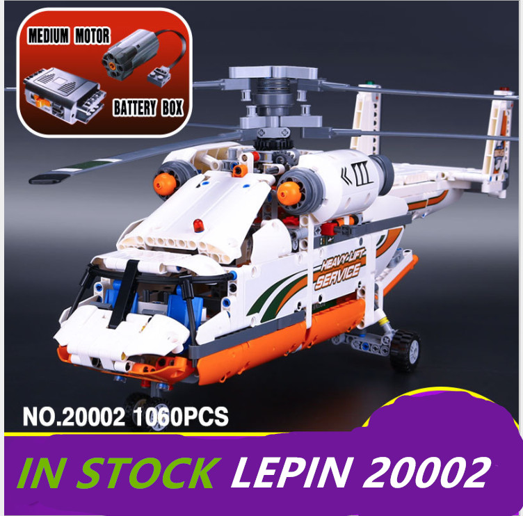 Lepin technic Helicopter 20002 motor battery Lift Helicopter Building Bricks power function legoing technic Helicopter 42052 sdmo technic 10000e
