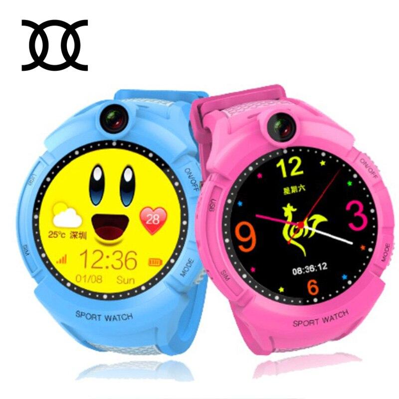 Twox Vm50 Q360 умный ребенок GPS часы с Камера ребенок SmartWatch SOS анти-потерянный Мониторы трекер Часы телефон для дети PK Q528