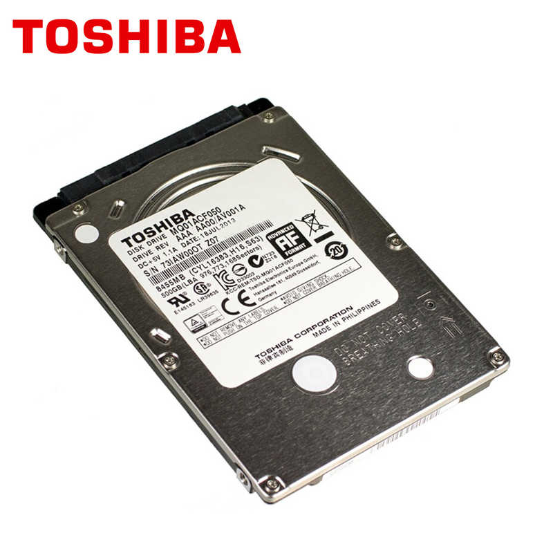 "TOSHIBA מחשב נייד קשיח כונן דיסק 500GB 500G מקורי פנימי נייד HDD HD 2.5 ""7200 RPM 16M מטמון 7mm 6 Gb/s SATA3 MQ01ACF050"