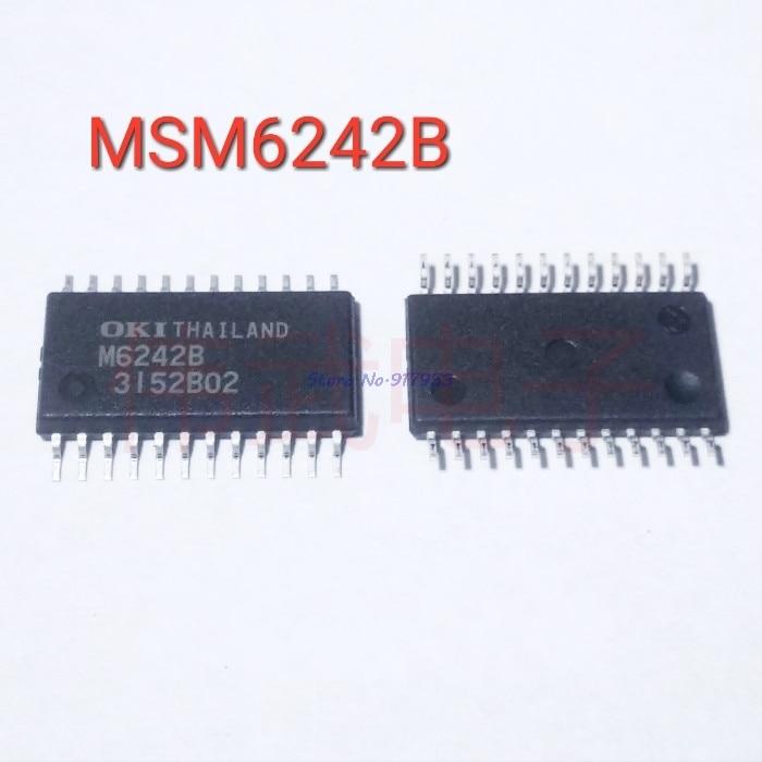 2pcs/lot MSM6242B M6242B M6242 SOP-24 In Stock
