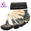 Qualidade superior pincel de maquiagem profissional definida 24 pcs alumínio tube pincéis de maquiagem Para Maquiagem Cosméticos Brush Tool Kit Com saco