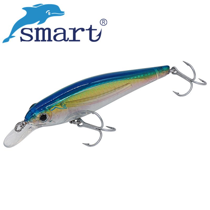 SMART Minnow Bait 115mm 20g Floating0-2.5m Fishing Lure VMC Hook Carp Hard Baits Isca Artificial Para Pesca Leurre Souple Peche  smart minnow bait 65mm5 1g vmc hooks floating 1 0m fishing lure baits isca artificial para pesca leurre souple peche kunstaas