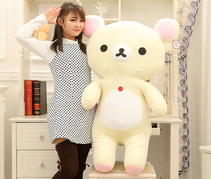 Stuffed plush toy large 110 cm white relax bear Huggy Bear plush toy doll soft throw pillow gift b0044 cute animal soft stuffed plush toys purple bear soft plush toy birthday gift large bear stuffed dolls valentine day gift 70c0074